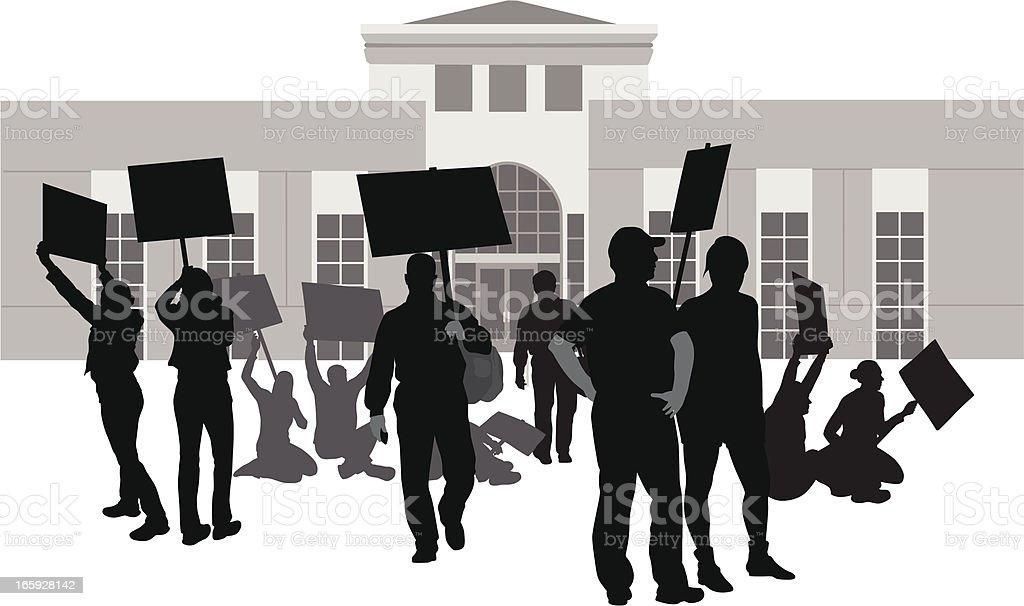Organized vector art illustration