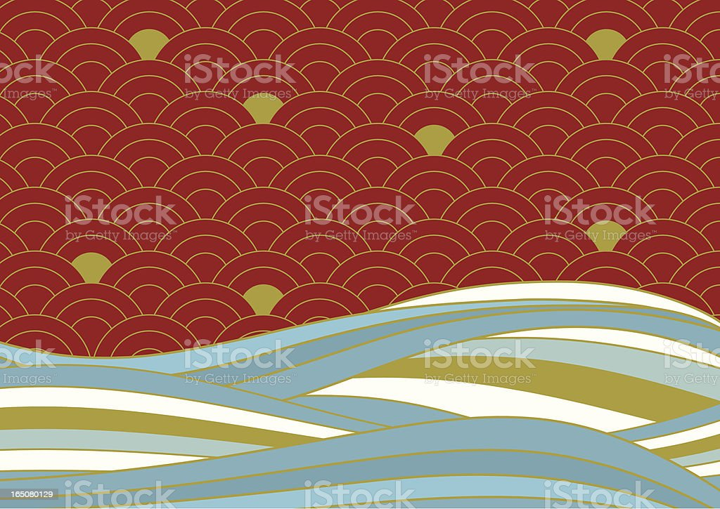 Orienta Sea royalty-free stock vector art