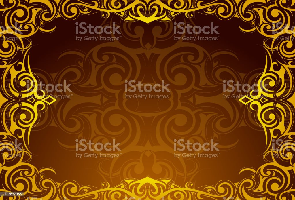 Orient style frame royalty-free stock vector art