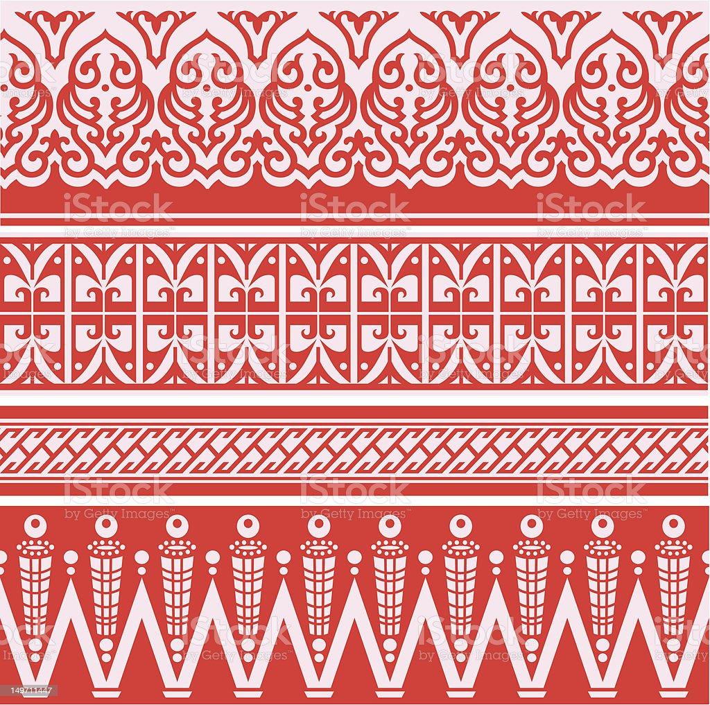 Astratto design di confine orientale illustrazione royalty-free