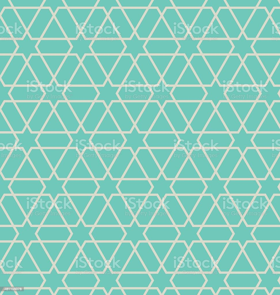 Oriental abstract seamless pattern vector art illustration
