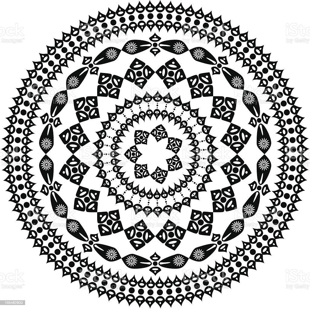 oriental arabesque pattern round royalty-free stock vector art