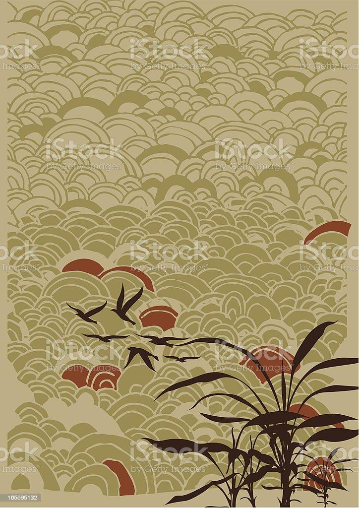oriental backgroud vector art illustration