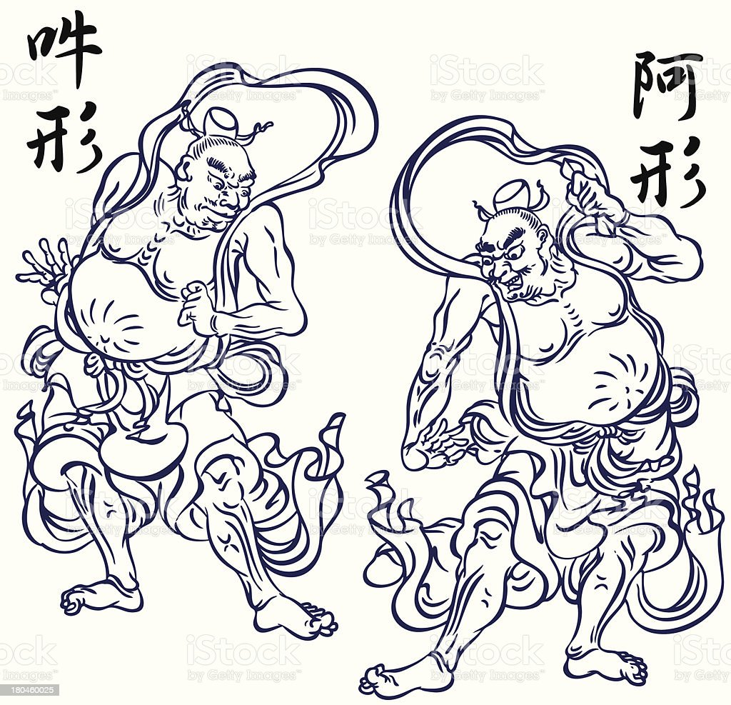 Oriental Buddhist image royalty-free stock vector art