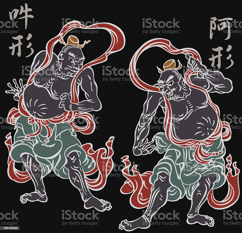 oriental Buddhist image vector art illustration