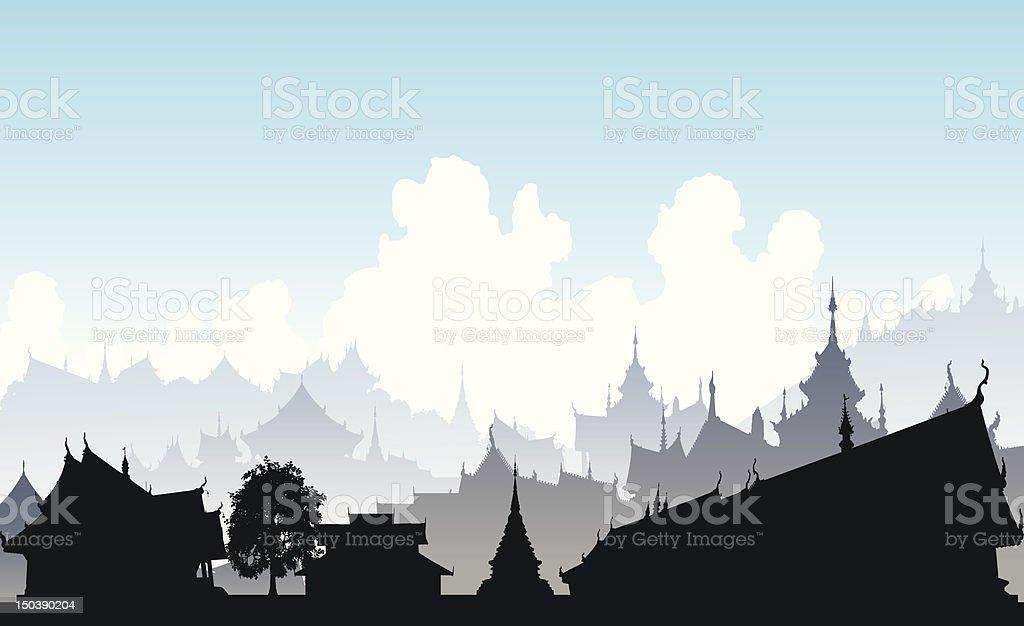 Oriental city royalty-free stock vector art