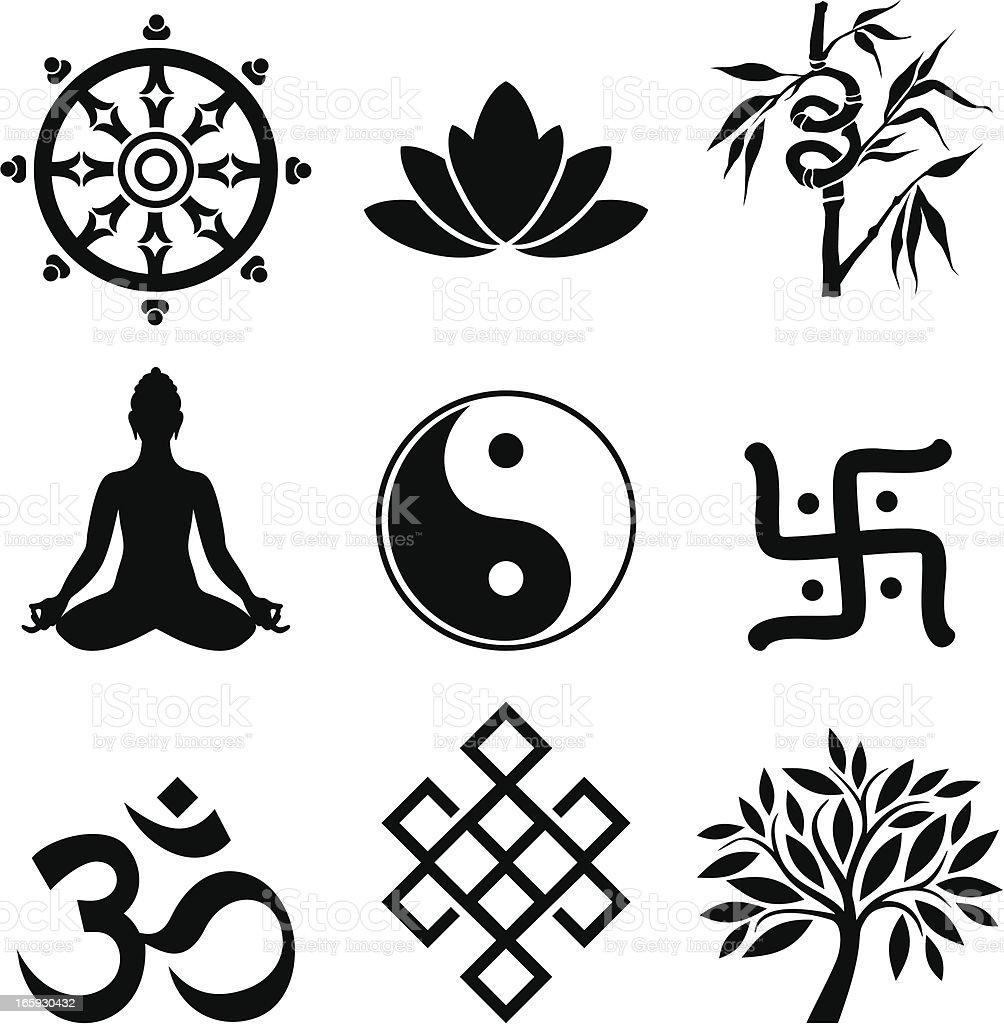 Oriental culture vector art illustration