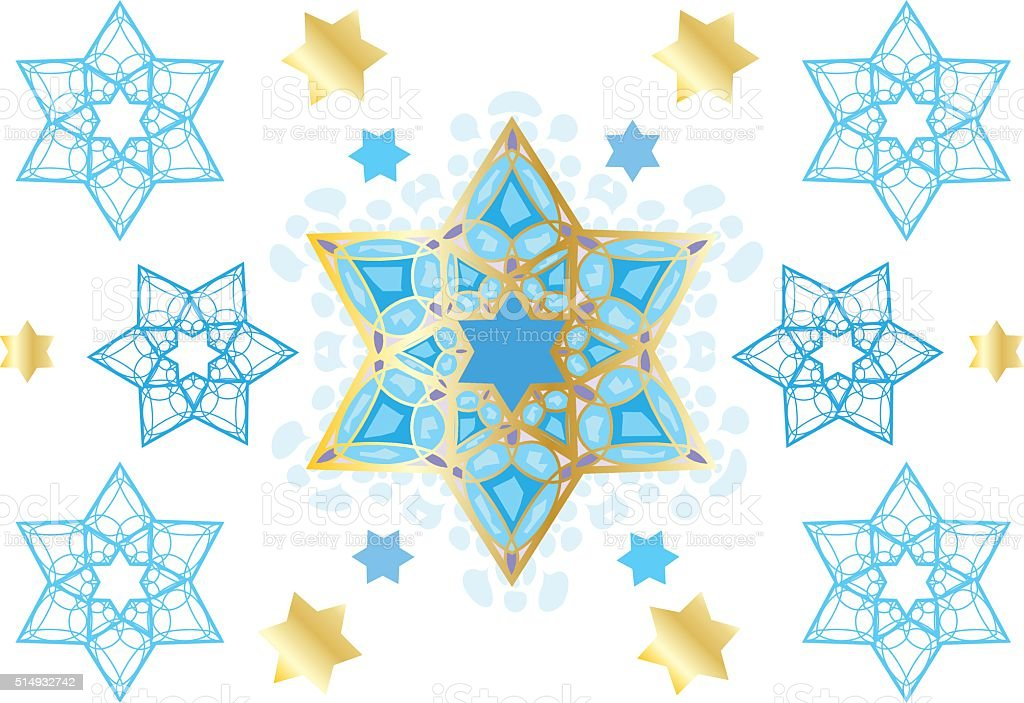 Oriental decorative ornament vector art illustration