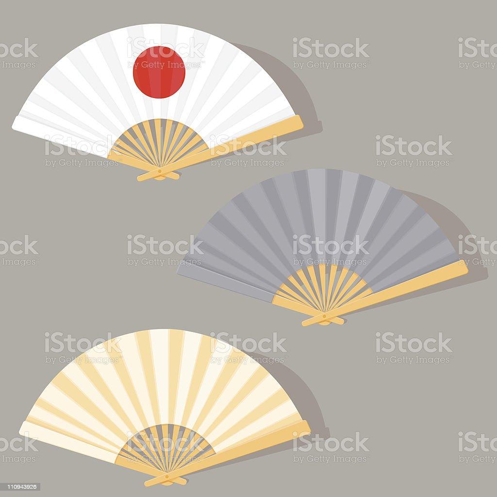 Oriental Fans royalty-free stock vector art