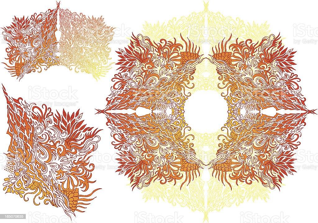 "oriental Bar ""flames"" Lizenzfreies vektor illustration"