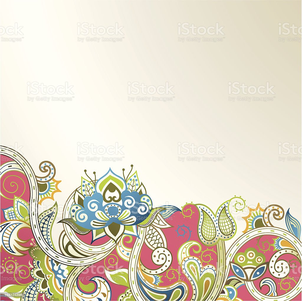 Oriental Floral royalty-free stock vector art