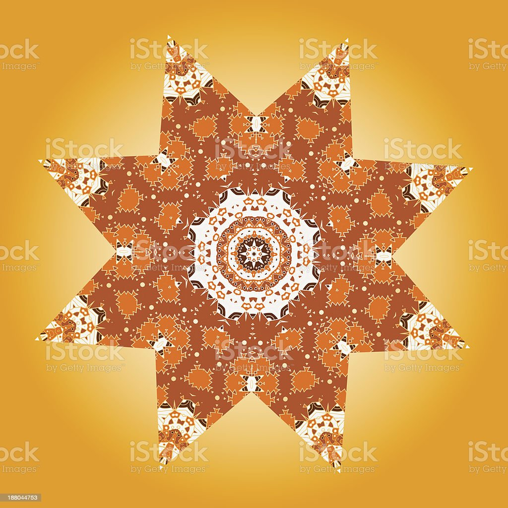 Oriental mandala motif royalty-free stock vector art