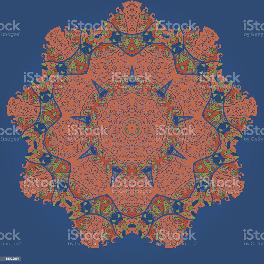 Oriental mandala motif royalty-free stock vector art