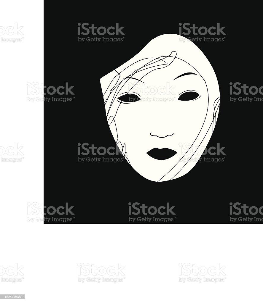 Oriental Mask simple illustration royalty-free stock vector art