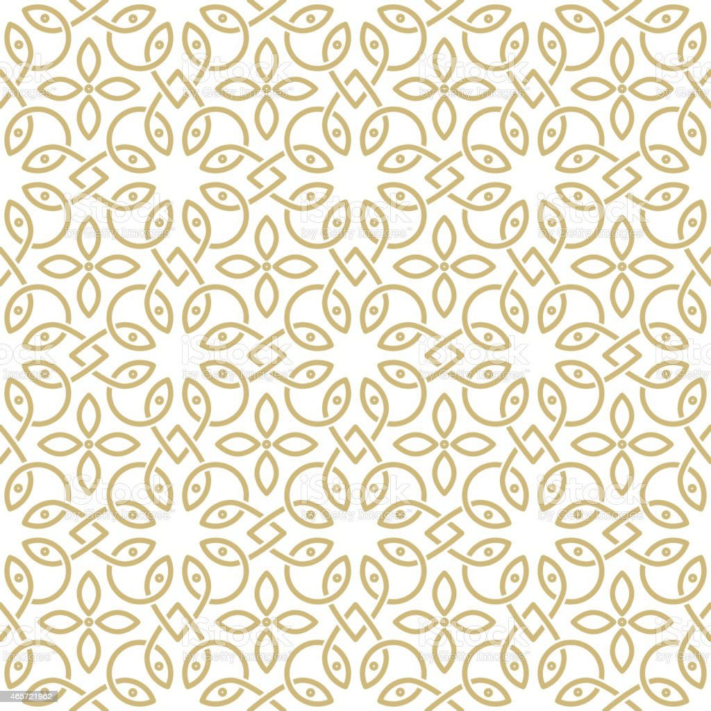 oriental pattern vector art illustration