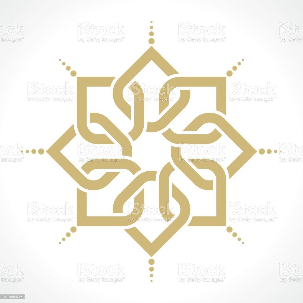 oriental pattern vector art illustration