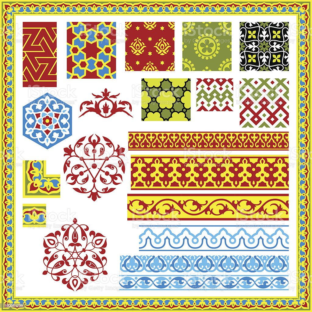 Oriental patterns and ornaments royalty-free stock vector art