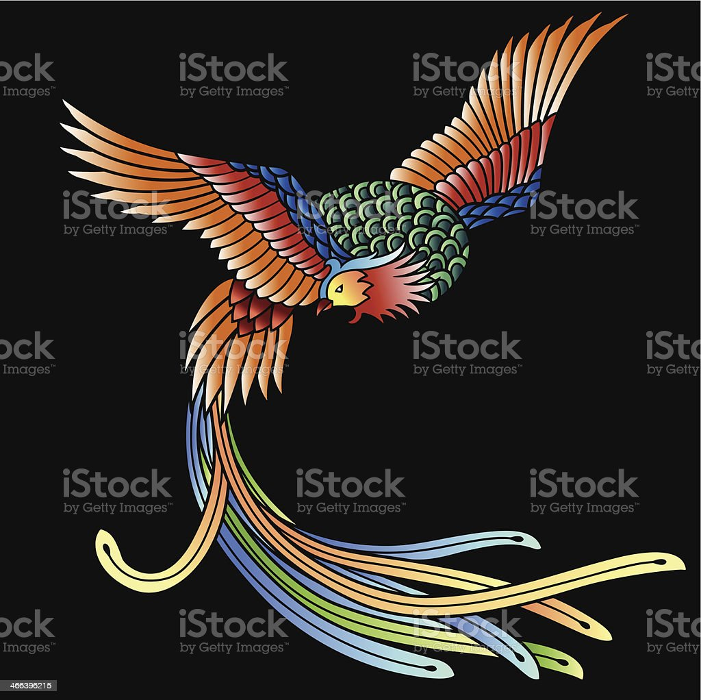 Oriental phoenix royalty-free stock vector art