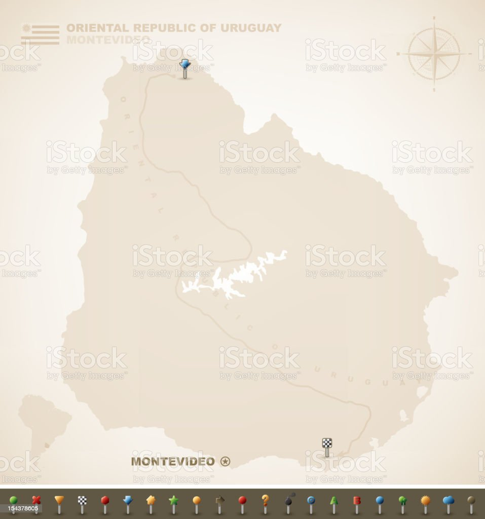 Oriental Republic of Uruguay royalty-free stock vector art