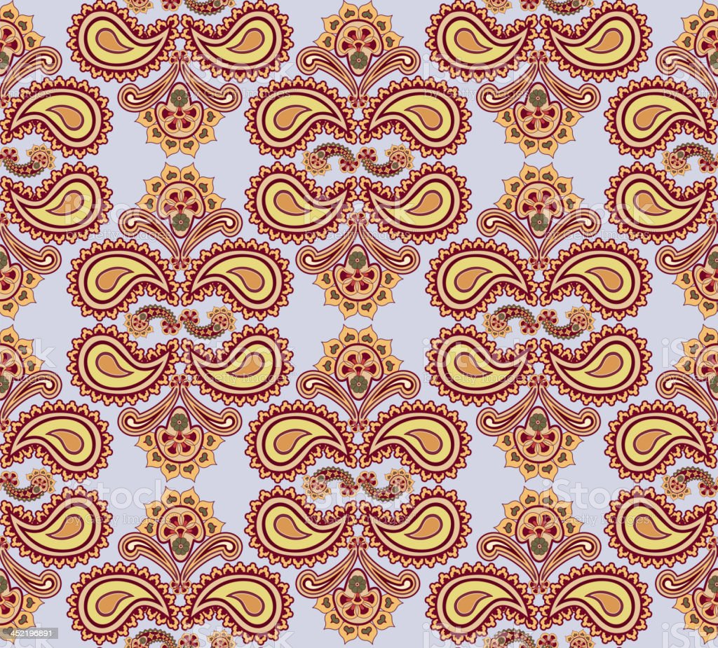 Oriental seamless ornament. royalty-free stock vector art