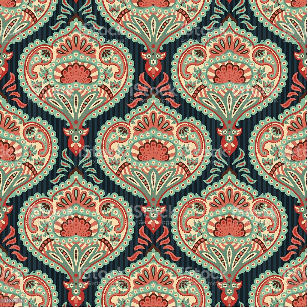 Orientalische tapete - Tapete orientalisch blau ...