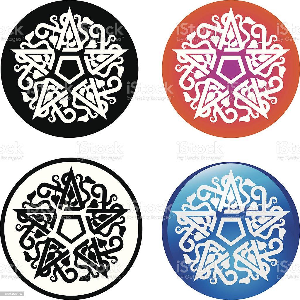 Oriental Sign - Pentagram royalty-free stock vector art