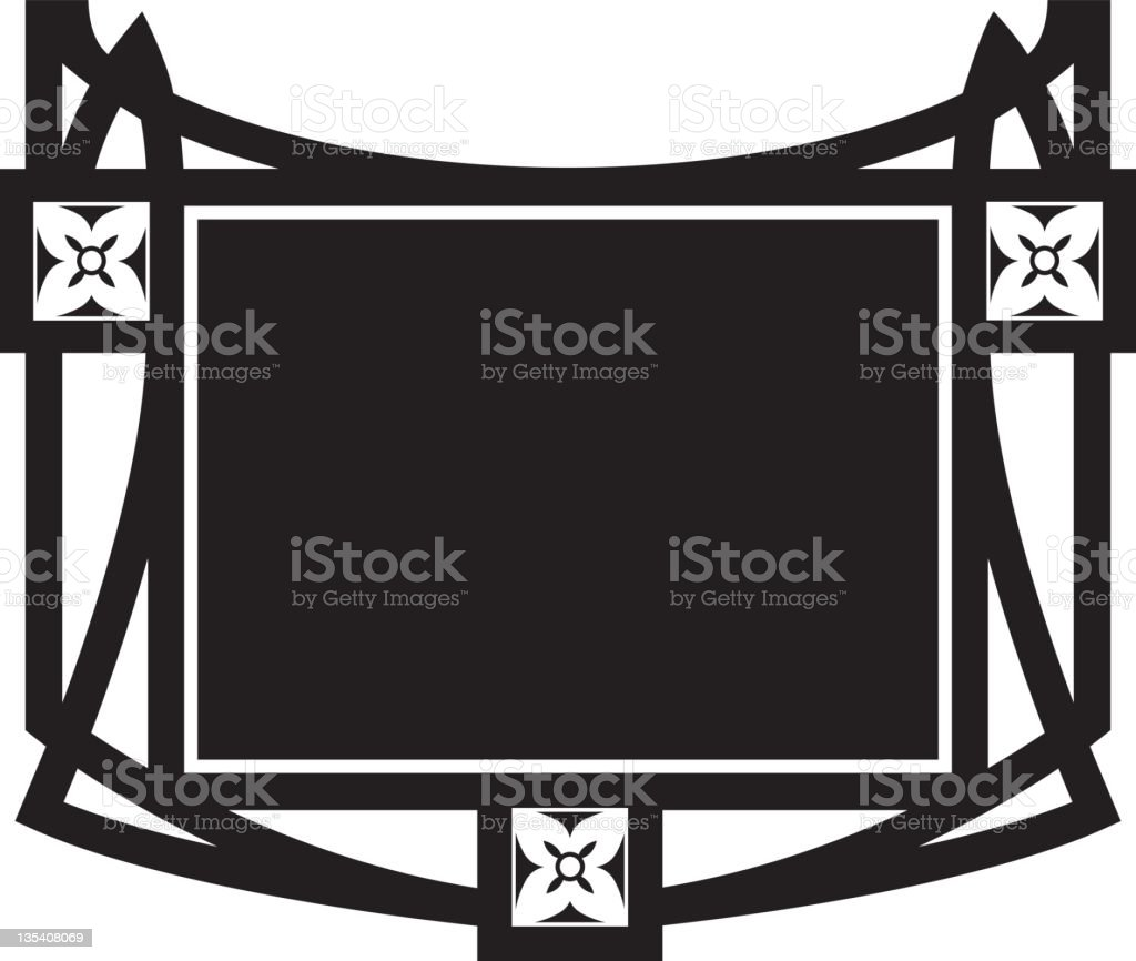 Oriental Style Frame royalty-free stock vector art