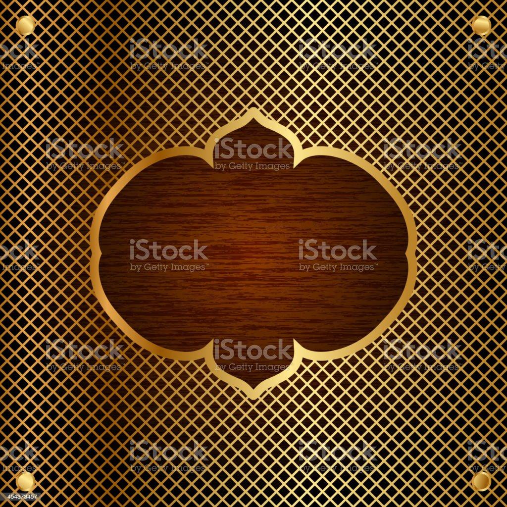 oriental style frame vector art illustration