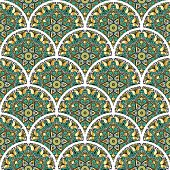 oriental tile seamless pattern