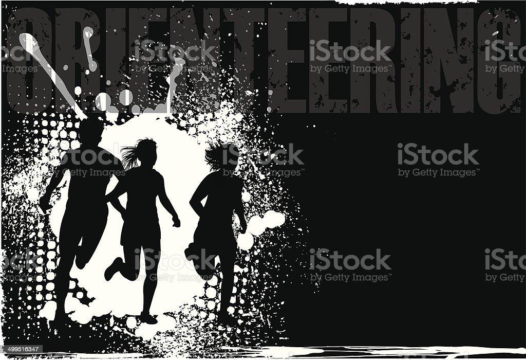 Orienteering - Fitness Background vector art illustration