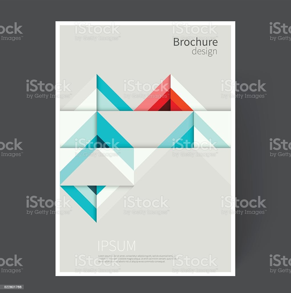 Origami abstract geometric background vector art illustration