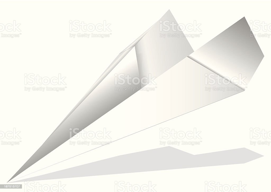 origami airplane vector art illustration