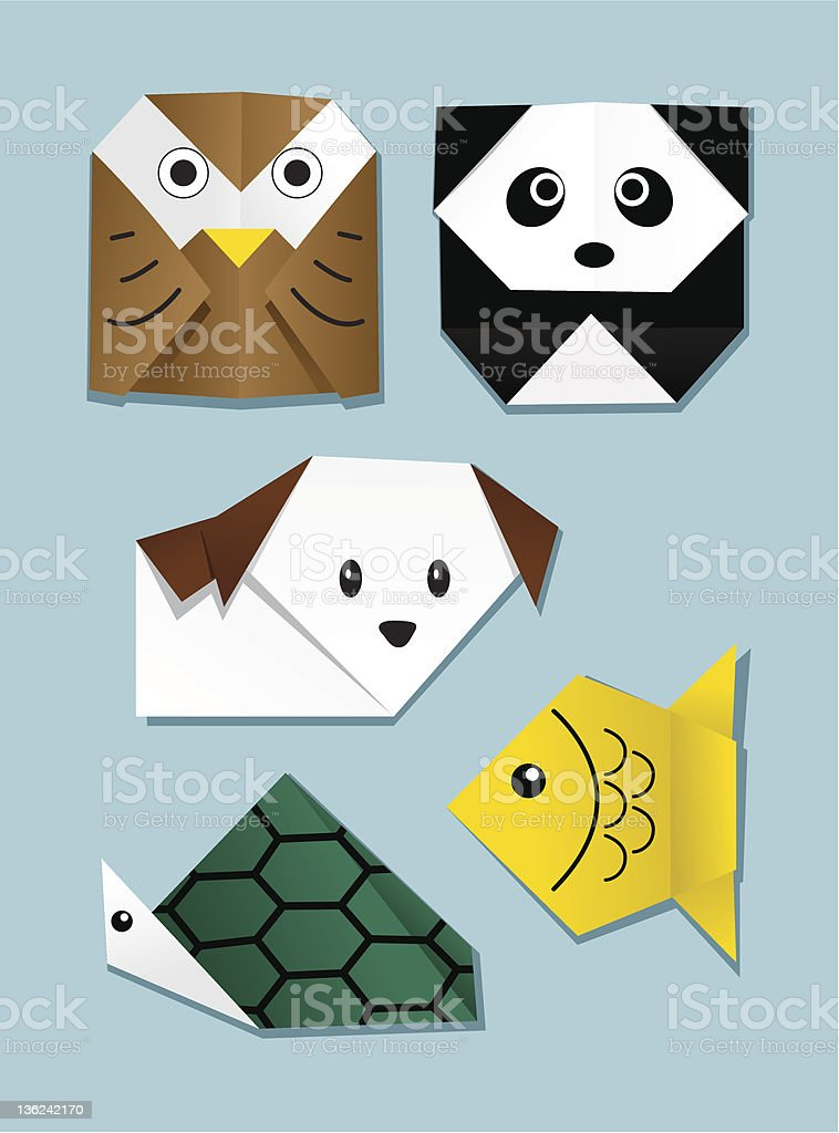 Origami Animal royalty-free stock vector art