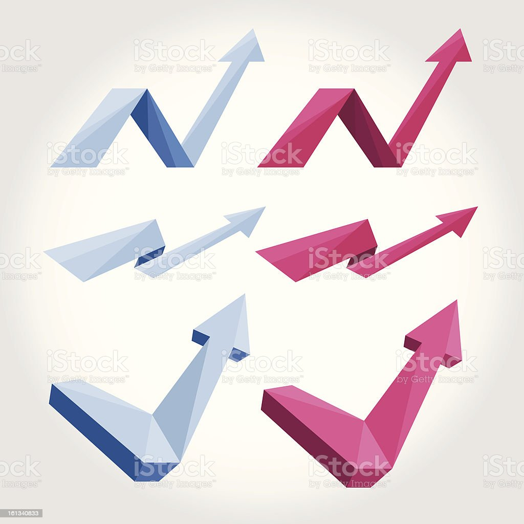 Origami arrows royalty-free stock vector art
