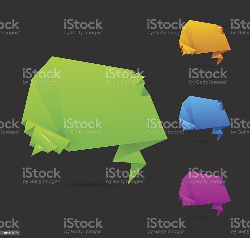 Origami banners royalty-free stock vector art