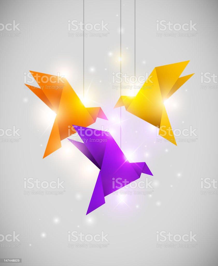 origami birds royalty-free stock photo