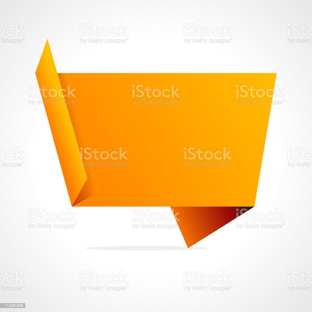 Origami speech bubble vector background royalty-free stock vector art