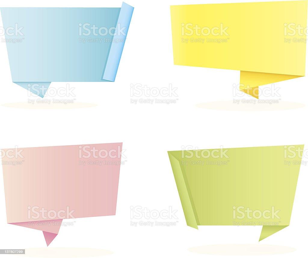 Origami Speech Bubbles royalty-free stock vector art