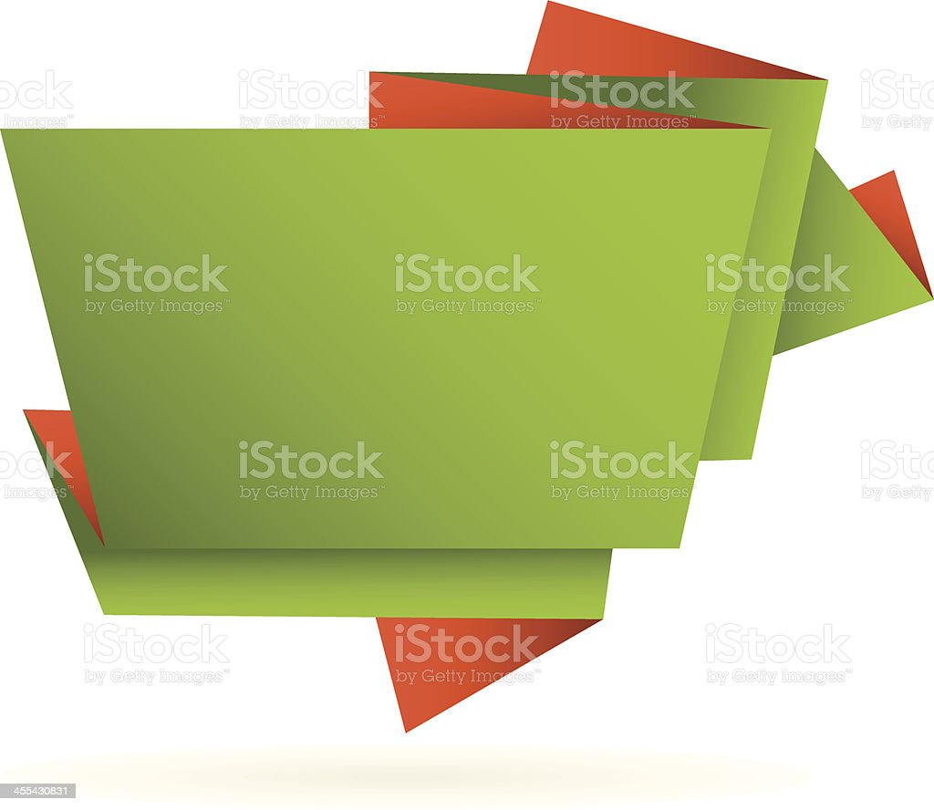 Origami text banner royalty-free stock vector art