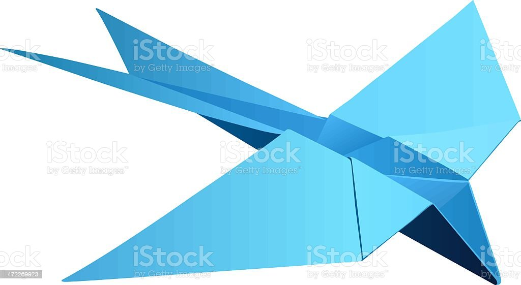 Origami 'The swallow' (vector) royalty-free stock vector art