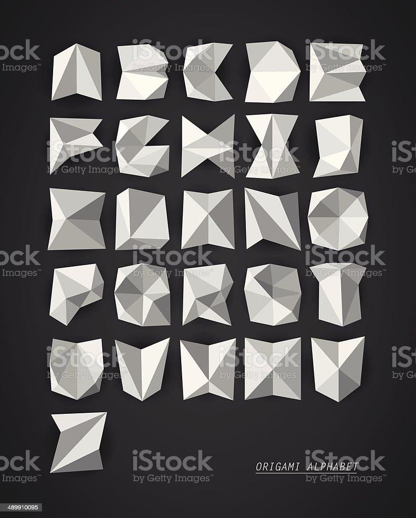 Origami vector alphabet royalty-free stock vector art