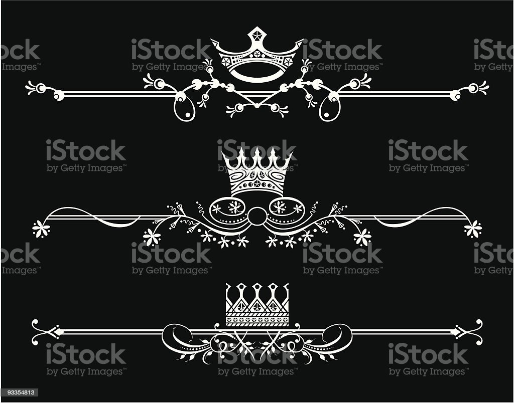 Original, floral footer header set royalty-free stock vector art