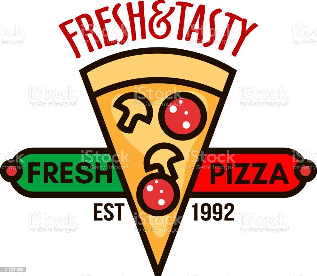 original italienische pizzaabzeichen für pizzeria design vektor