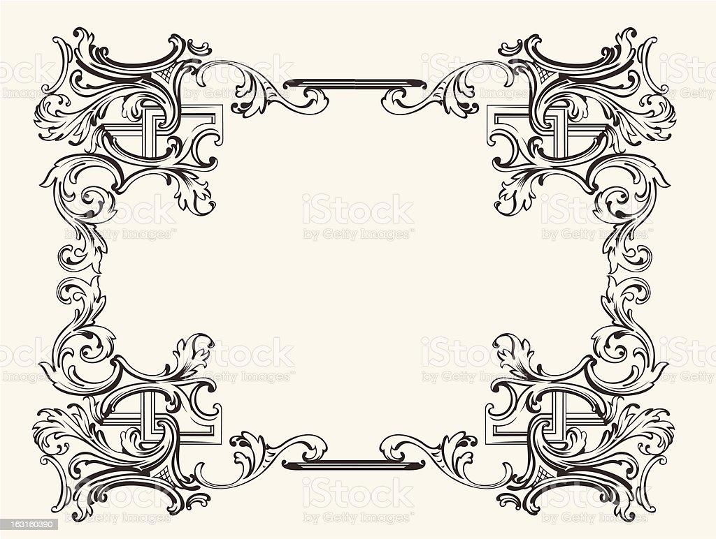 Original Renaissance Ornate Frame royalty-free stock vector art