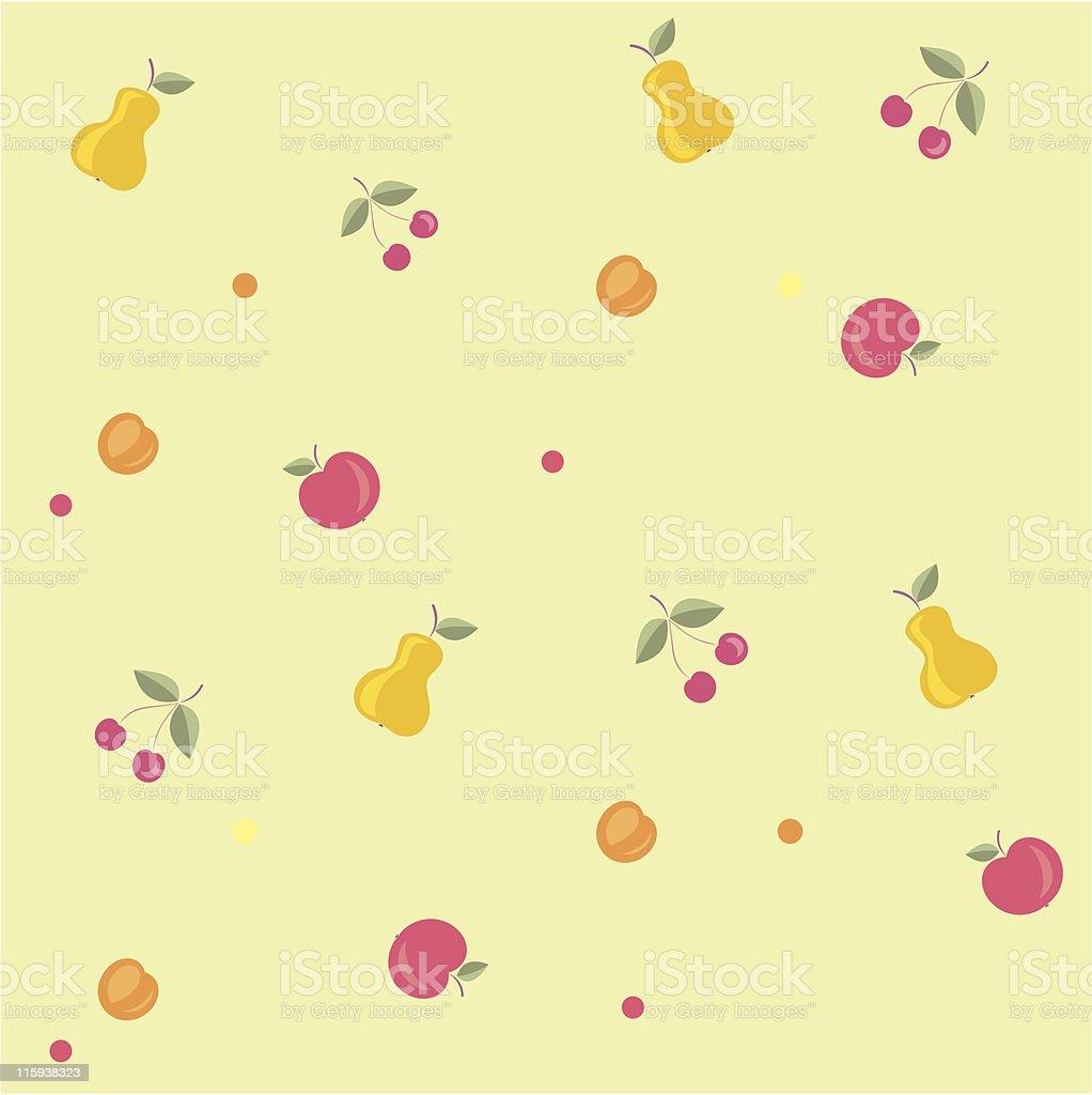 Original Seamless Pattern - Fruits royalty-free stock vector art