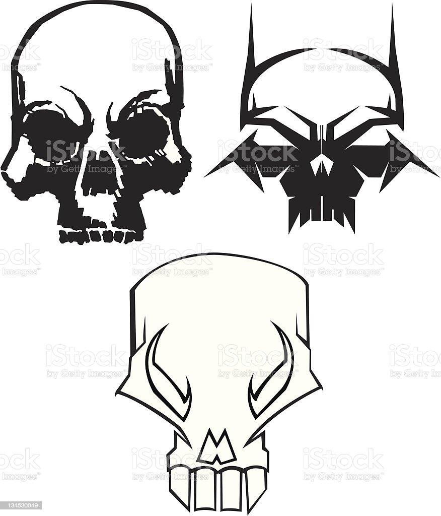 Original Skulls royalty-free stock vector art