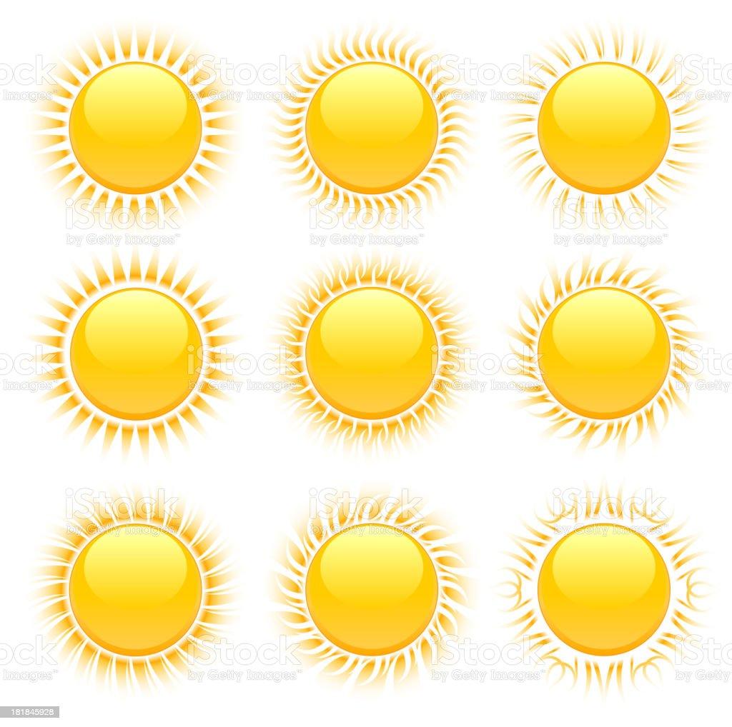 Original Sun Designs royalty-free stock vector art