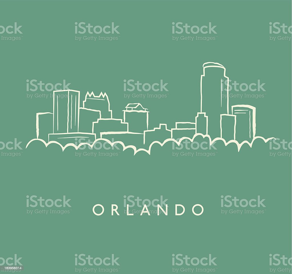 Orlando Skyline Sketch vector art illustration