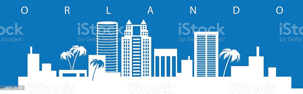 Orlando Skyline vector art illustration