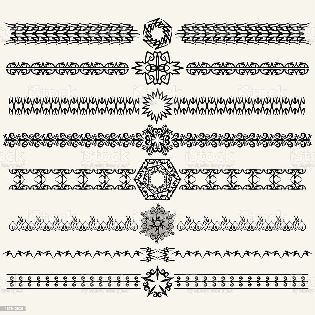 Ornament and dividers royalty-free stock vector art